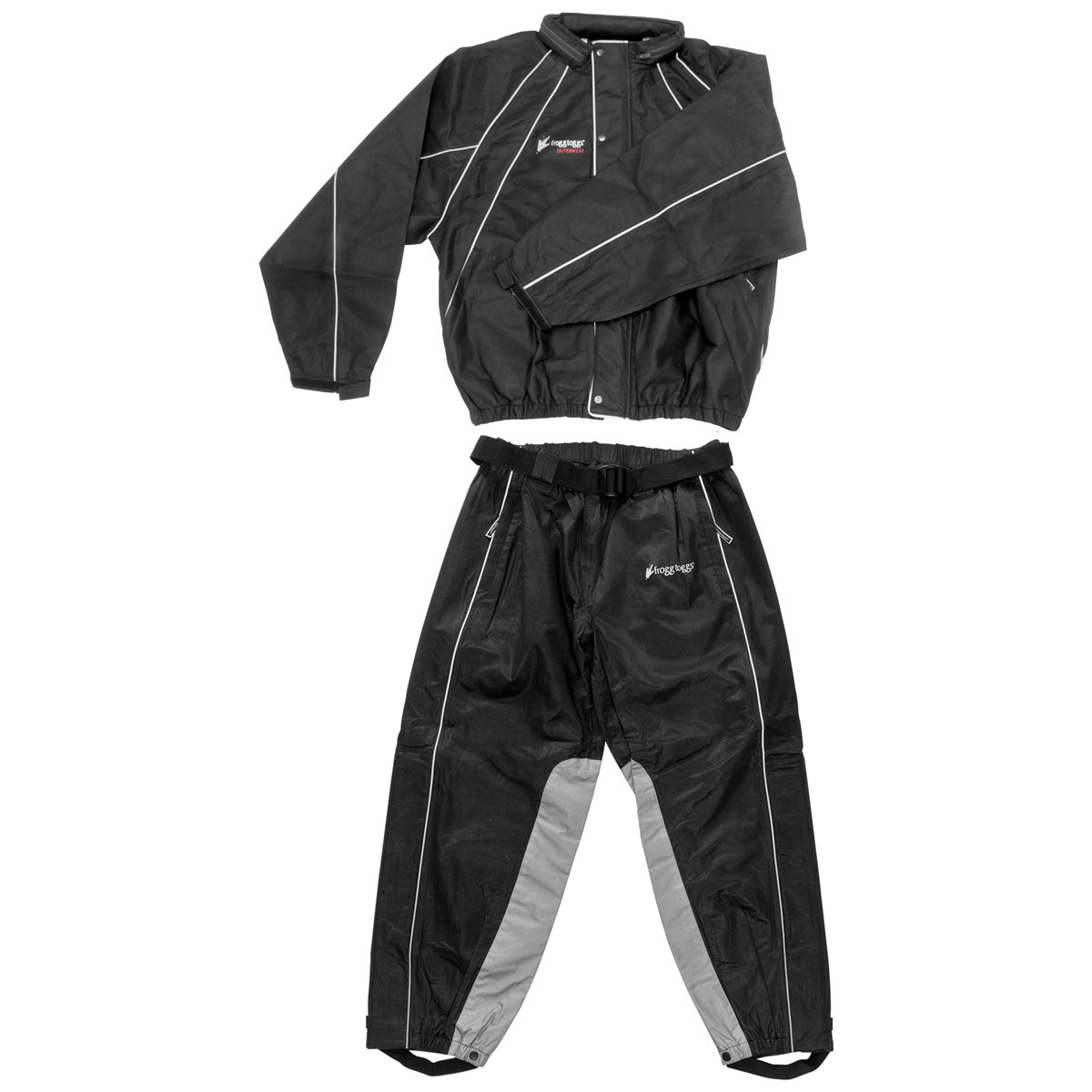 Frogg Toggs Hogg Togg Black Rain Suit with Heat Resistant Leg Liners