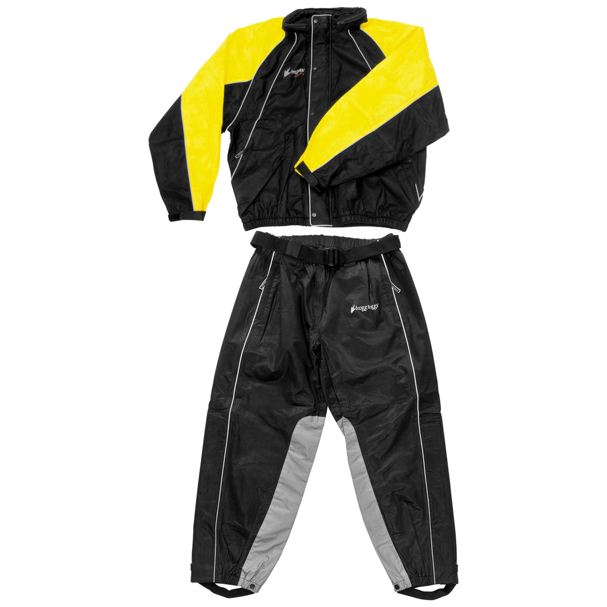 Frogg Toggs Hogg Togg Black/ Yellow Rain Suit with Heat Resistant Leg Liners