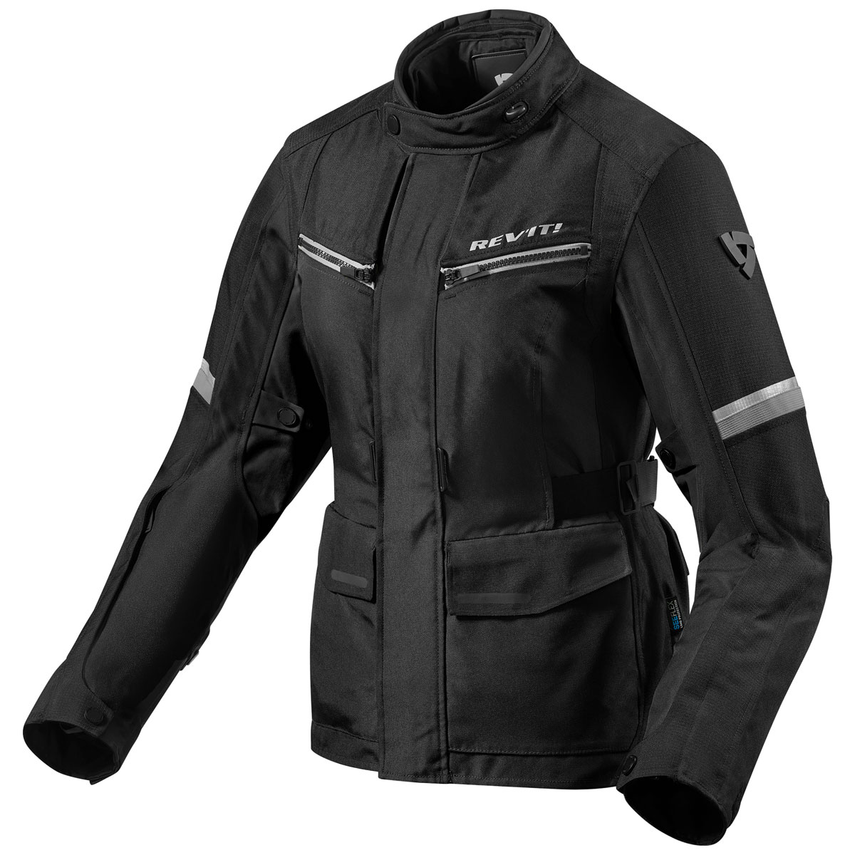 REV′IT! Women's Outback 3 Black/Silver Textile Jacket