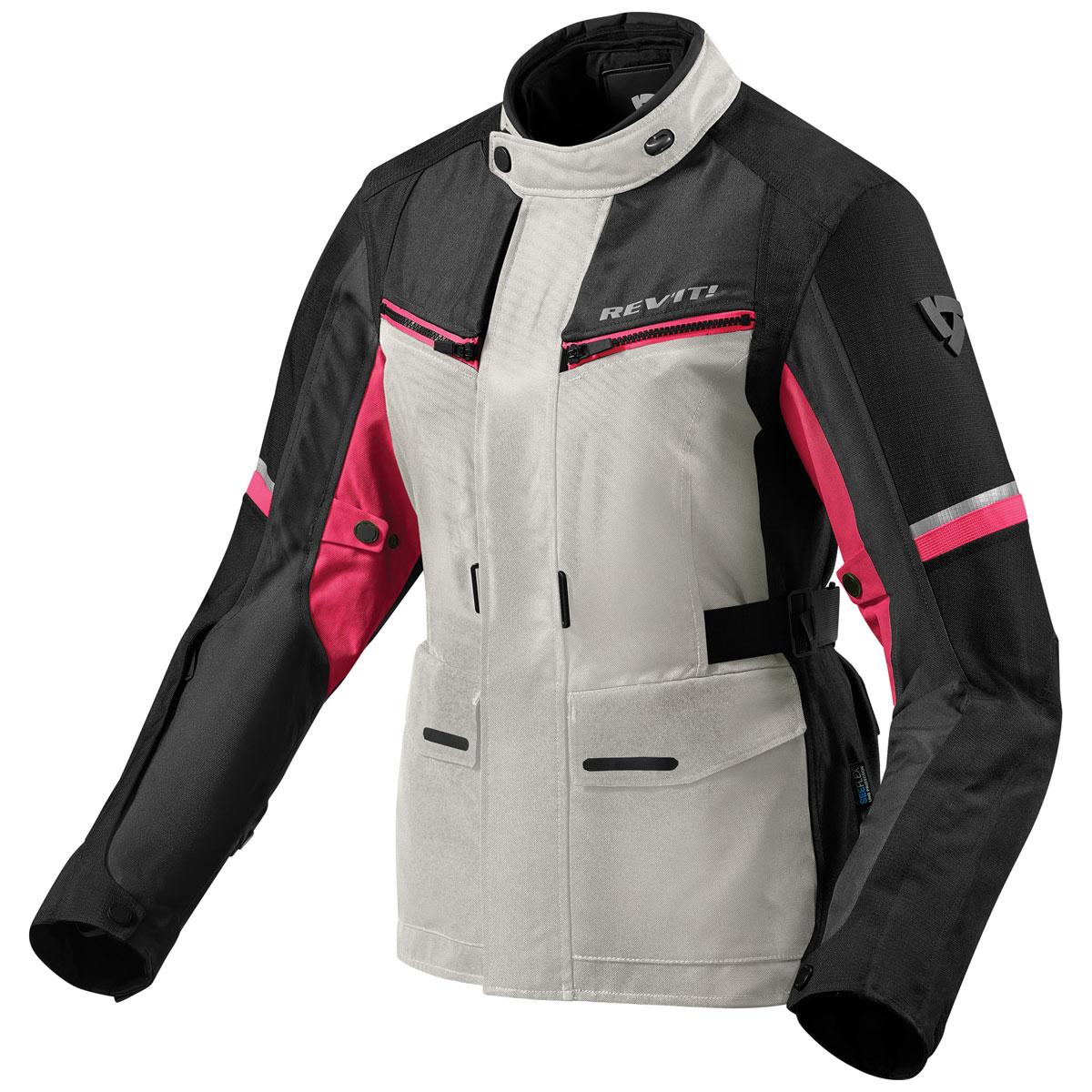REV′IT! Women's Outback 3 Silver/Fuchsia Textile Jacket