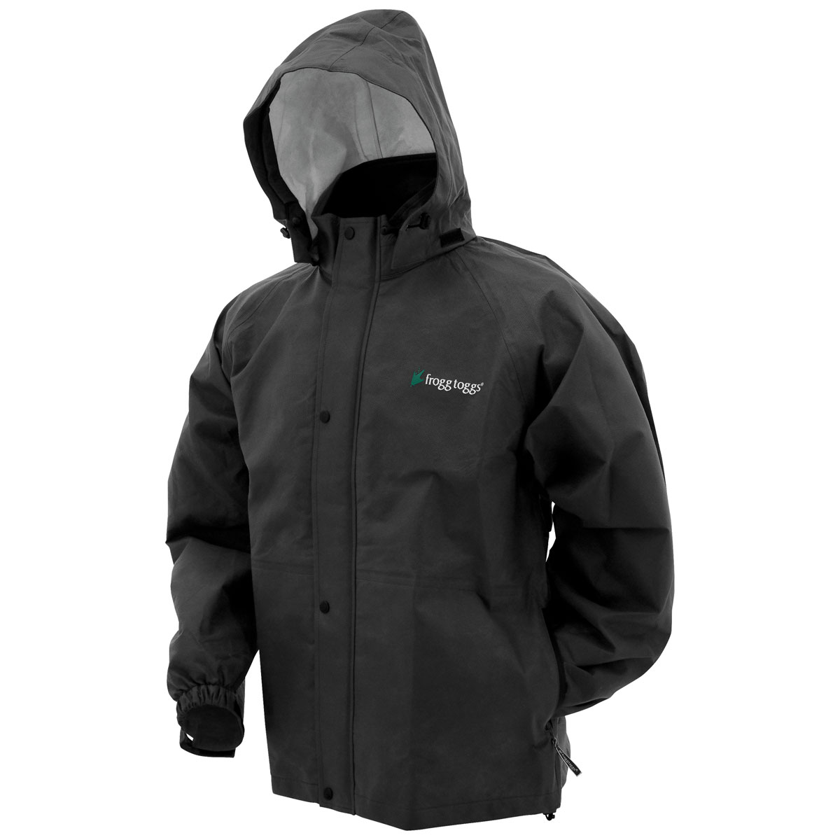 Frogg Toggs Men's Bull Frogg Black Rain Jacket