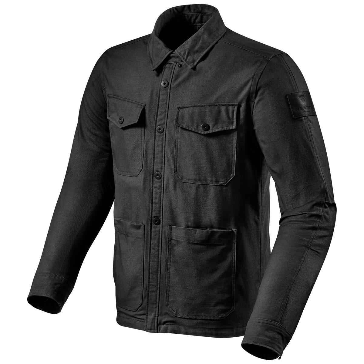 REV′IT! Men's Worker Black Overshirt Jacket