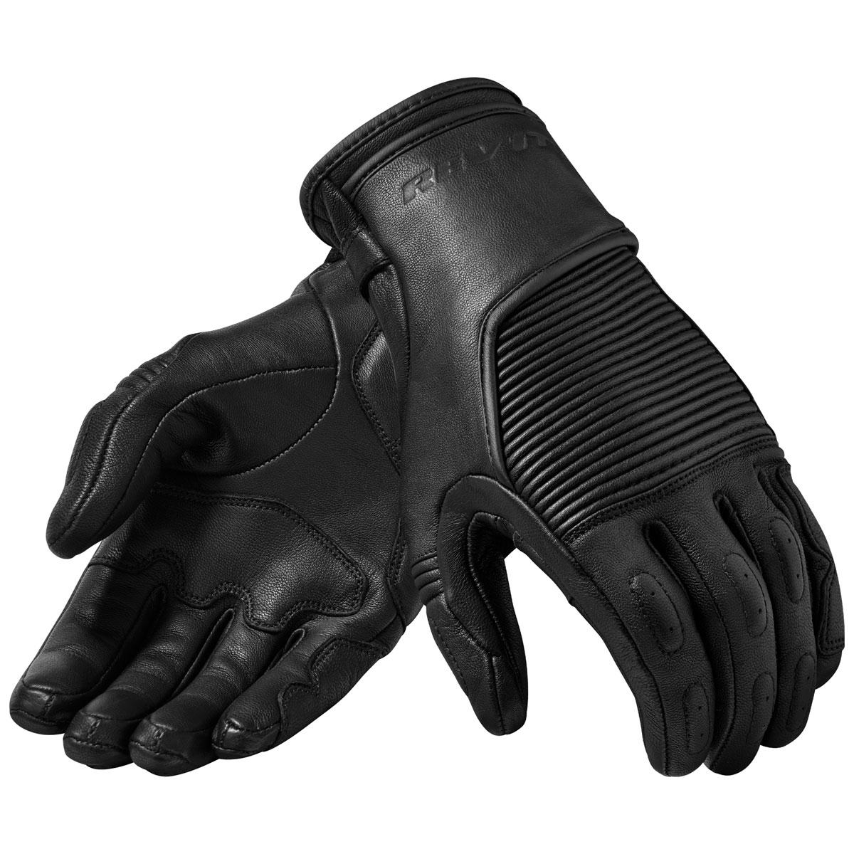REV′IT! Men's Bastille Black Leather Gloves