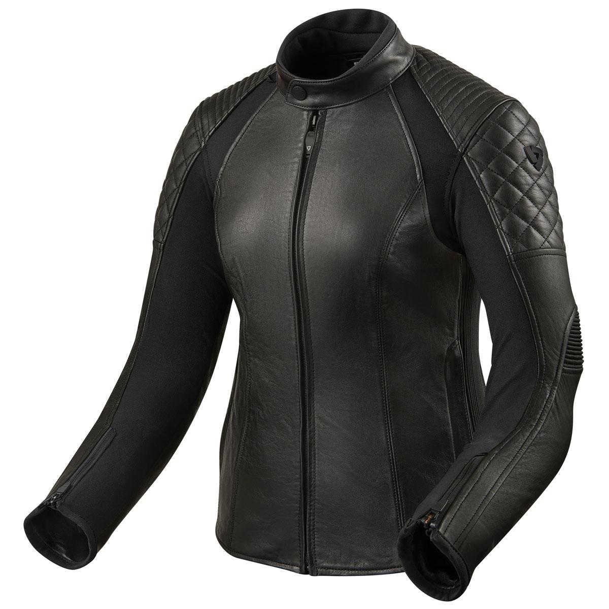 REV'IT! Women's Luna Black Leather Jacket