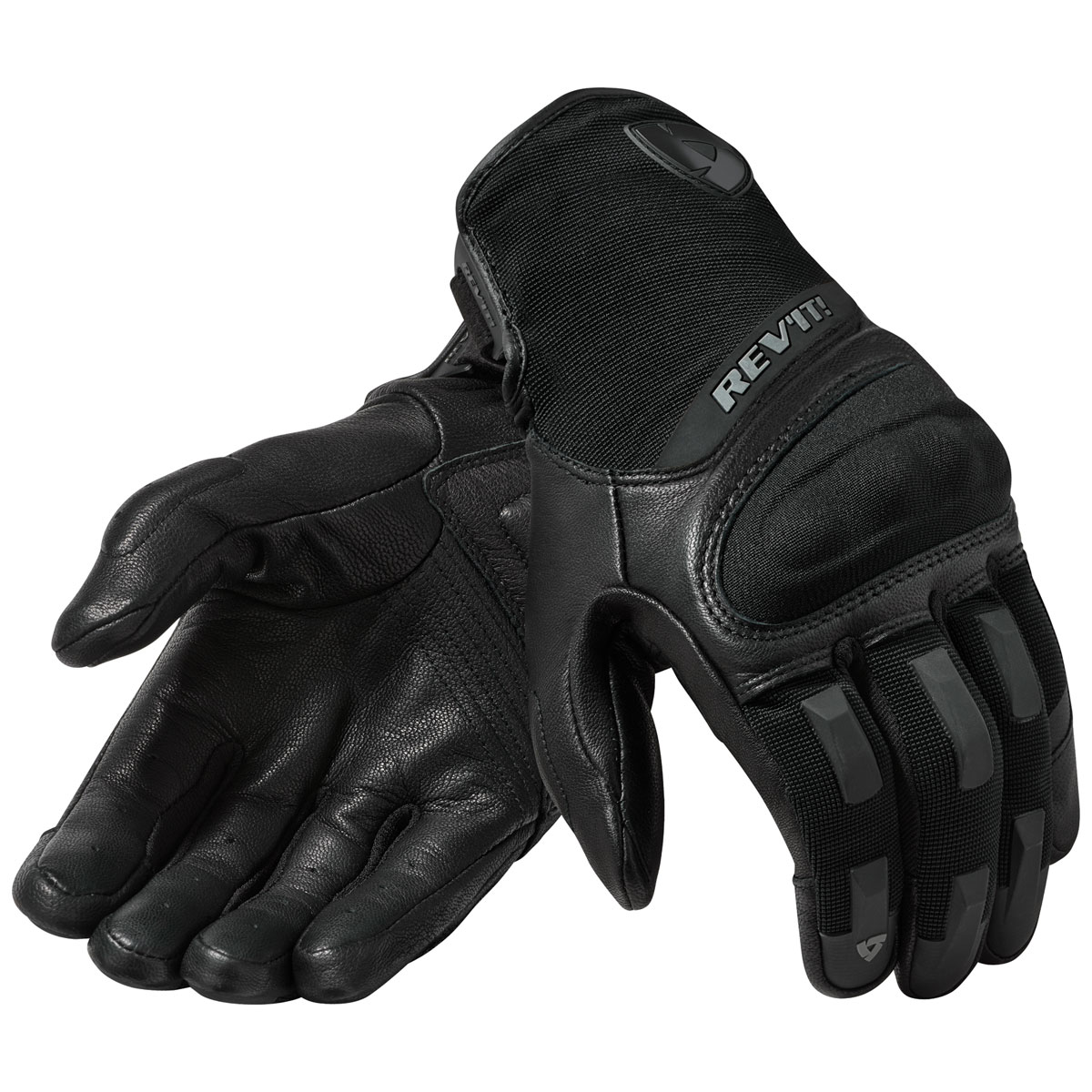 REV′IT! Men's Striker 3 Black Leather Gloves