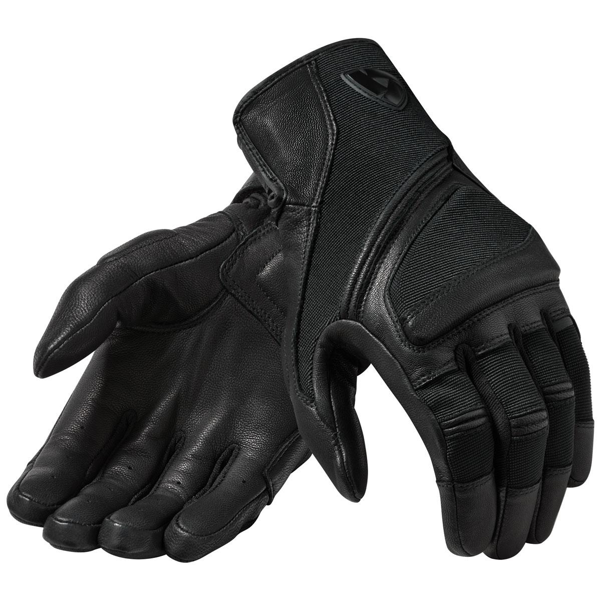 REV'IT! Men's Pandora Black Leather Gloves