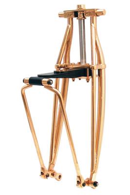 Paughco Polished Copper Leaf Spring Fork Assembly
