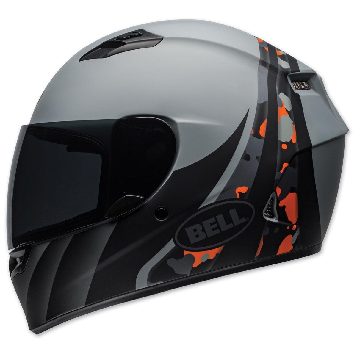 Bell Qualifier Integrity Gray/Orange Full Face Helmet
