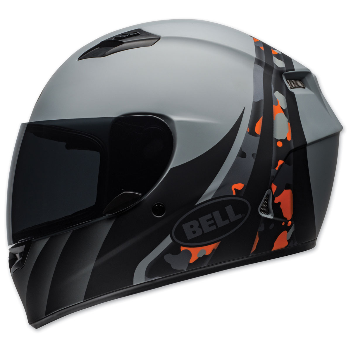 Bell Qualifier Integrity Gray/Orange Full Face Helmet