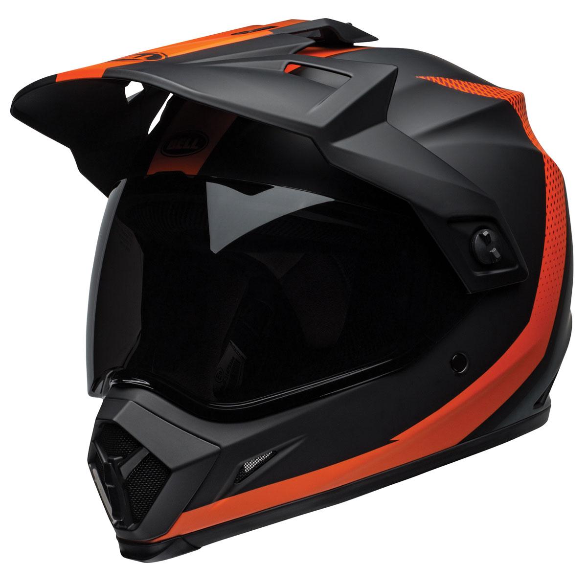 Bellr MX-9 Adventure MIPS Switchback Black/Orange Dual Sport Helmet