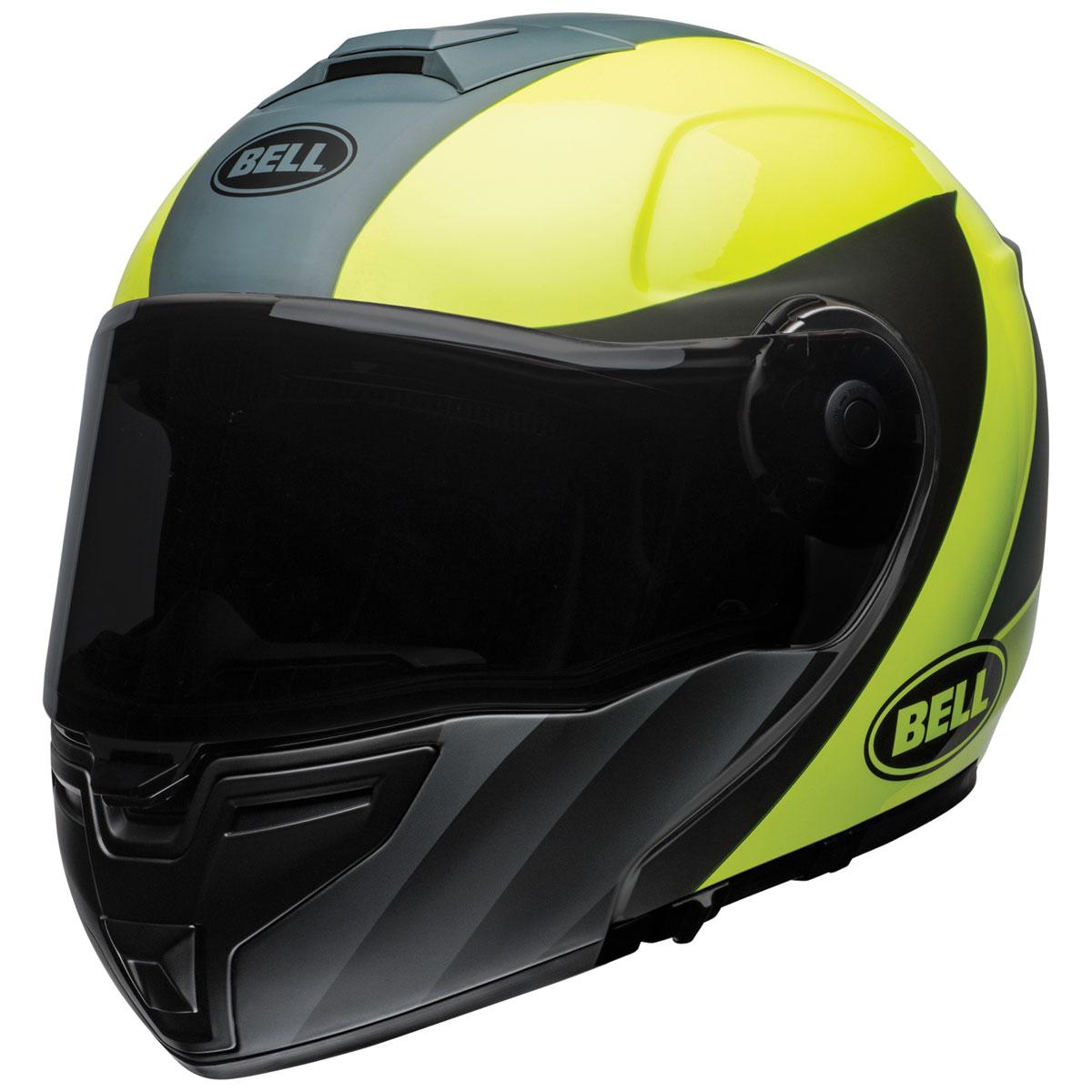 Bell SRT Modular Presence Gray/Hi-Viz Yellow Modular Helmet
