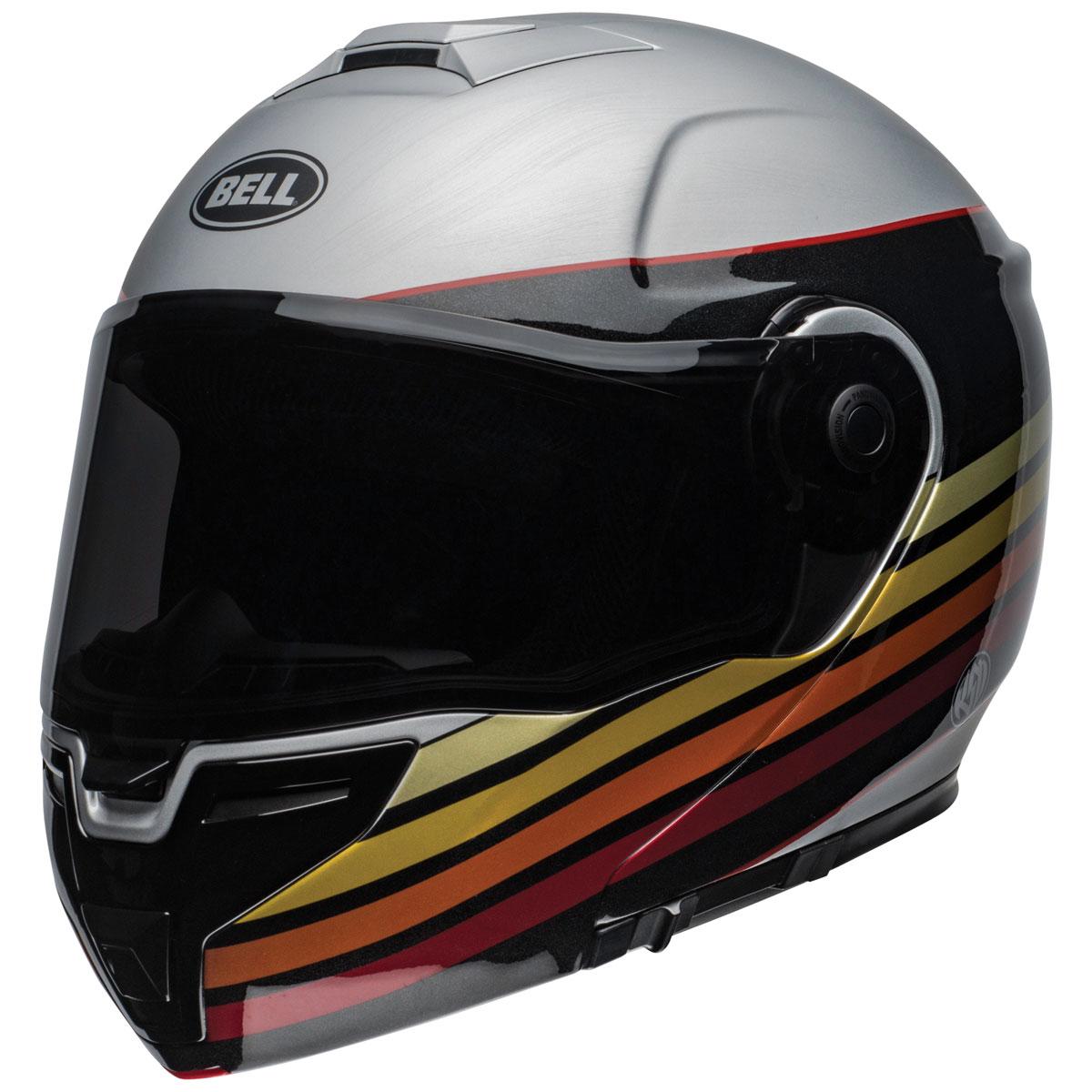 Bell SRT Modular RSD Newport Metal/Red Modular Helmet