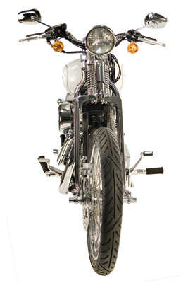 Paughco 30″ Wide Springer Front Ends with Shock and Glide Style Risers -  NS181SD-3