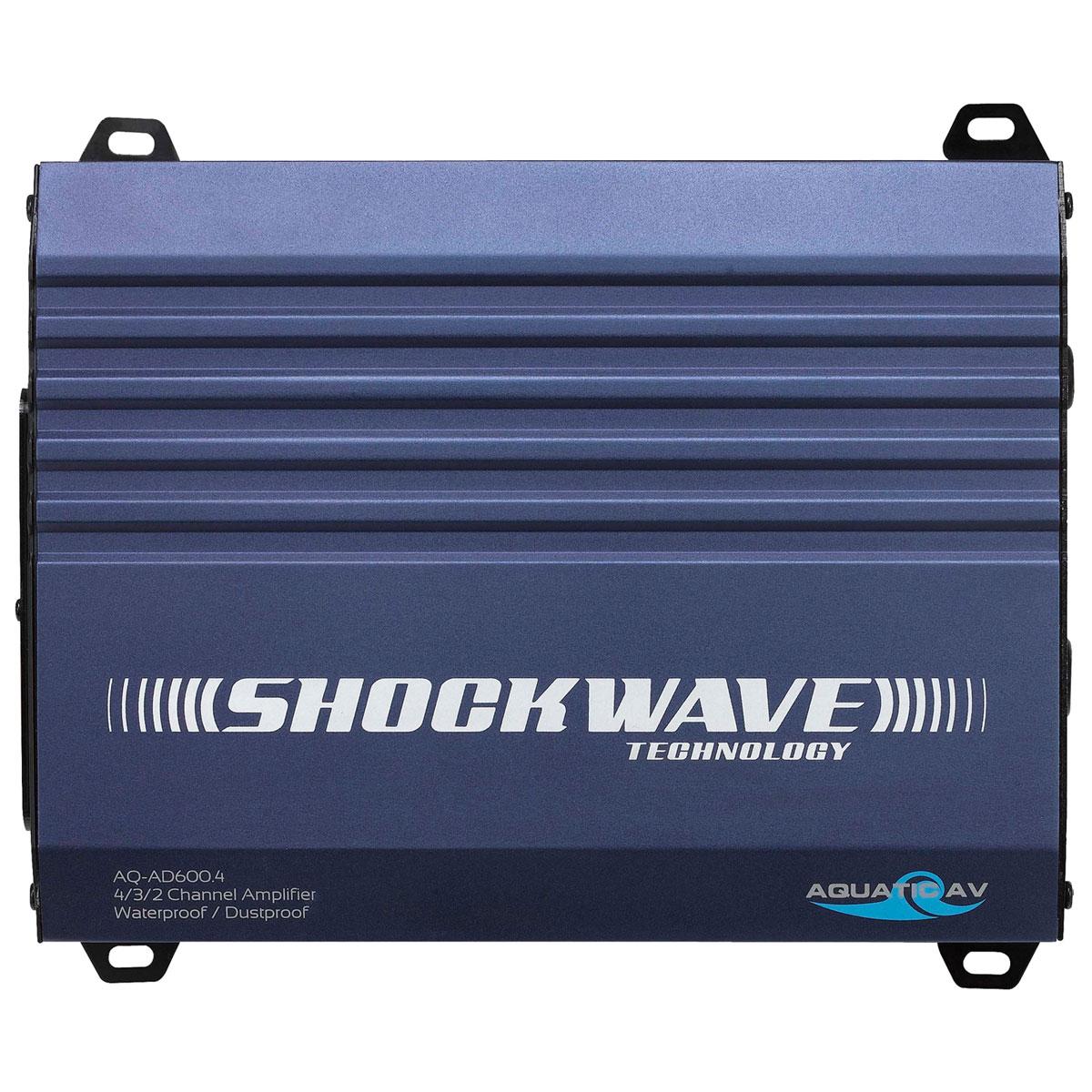 Aquatic AV Shockwave Waterproof 4/3/2 Channel Amplifier