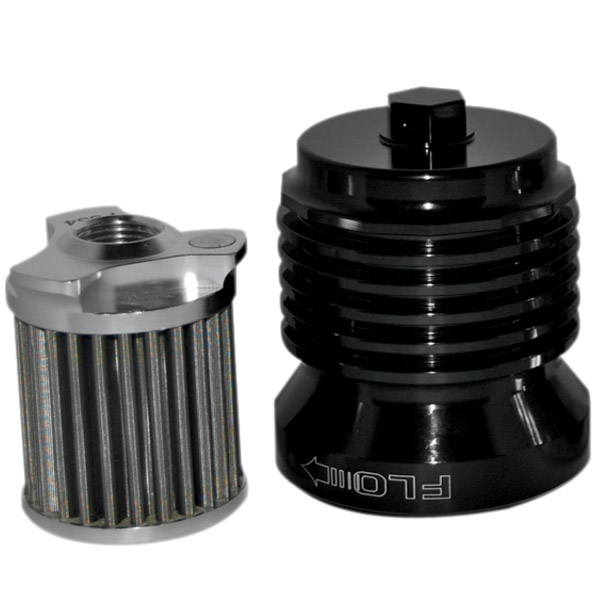 FLO Reusable Spin On Oil Filter Black