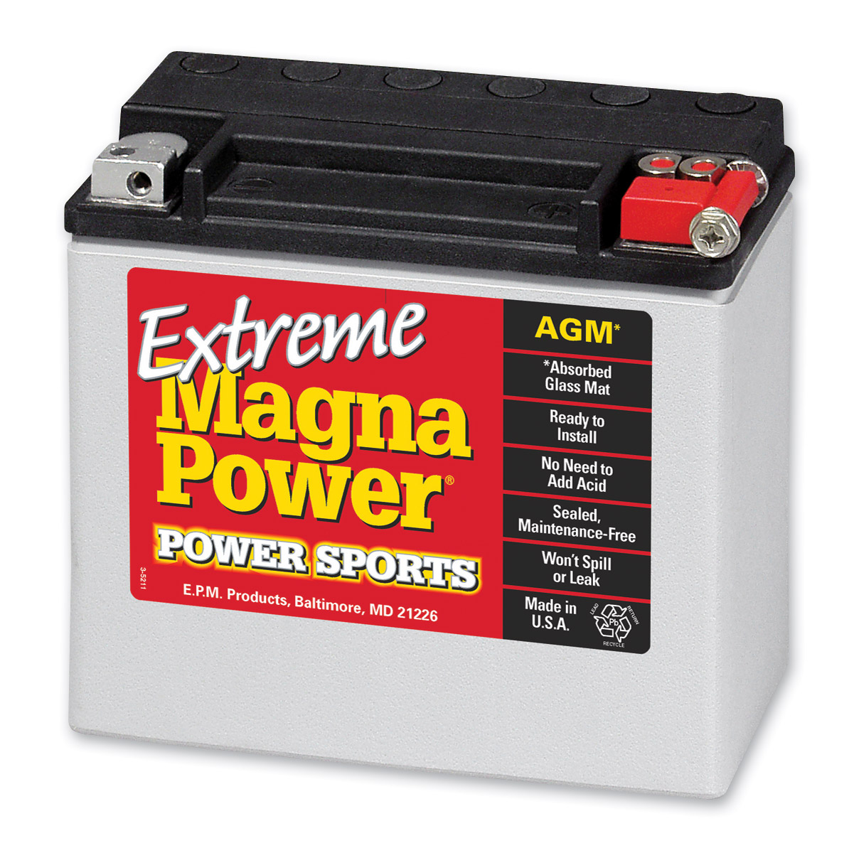 Magna Power AGM Maintenance Free Battery