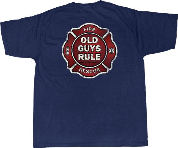Old Guys Rule Badge of Honor Vintage T-shirt
