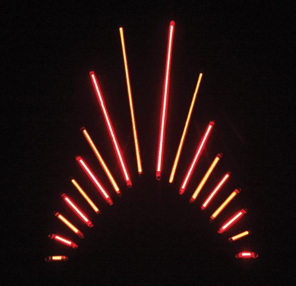 Custom Dynamics TruFLEX 45 Red LEDs/Smoked tube