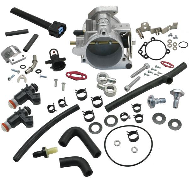 S&S Cycle 58mm Single Bore EFI Throttle Body/Fuel Rail Kit - 106-4408