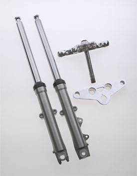 V-Twin Manufacturing Single Disc Wide Glide Style Fork Assembly