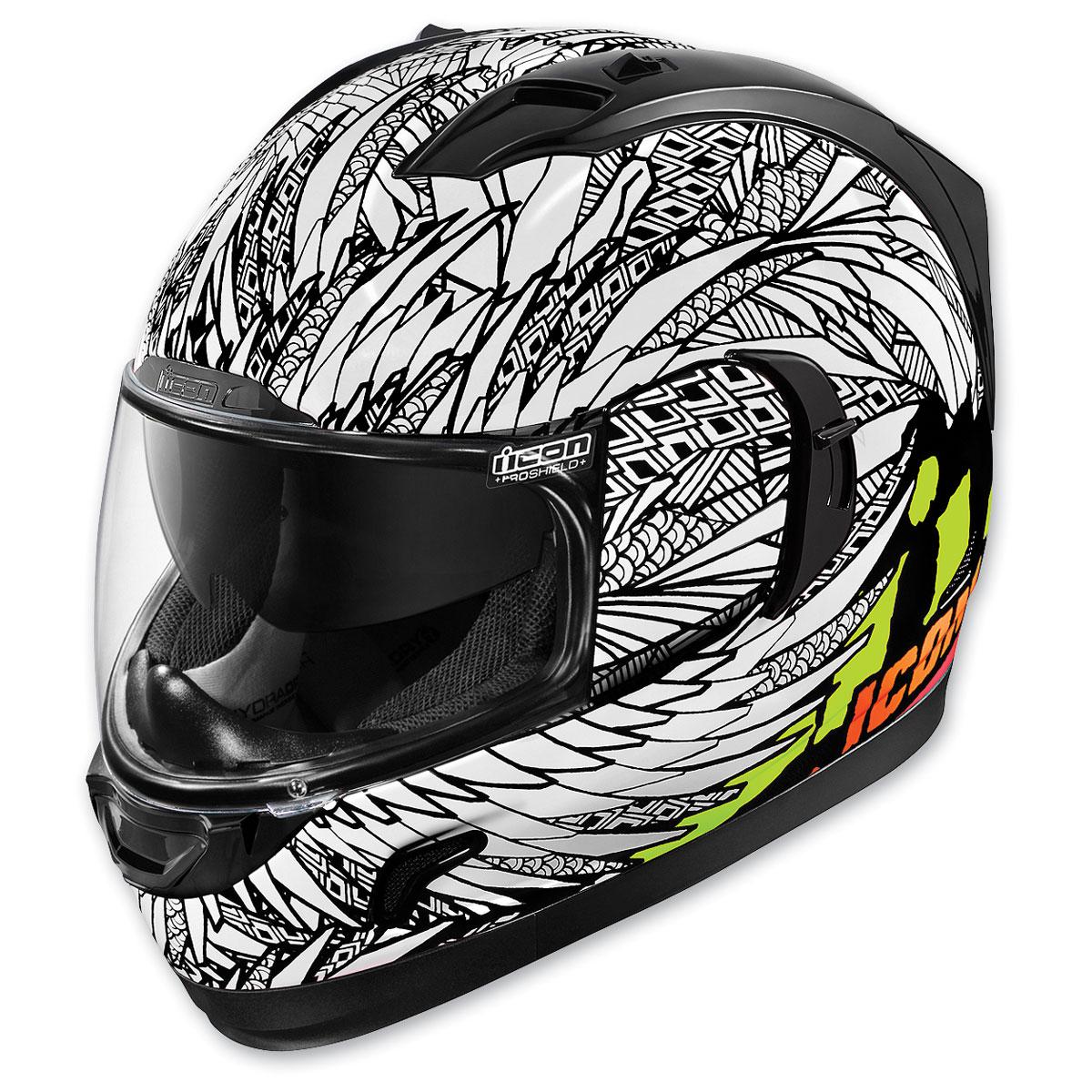 ICON Alliance GT Birdstrike White Full Face Helmet
