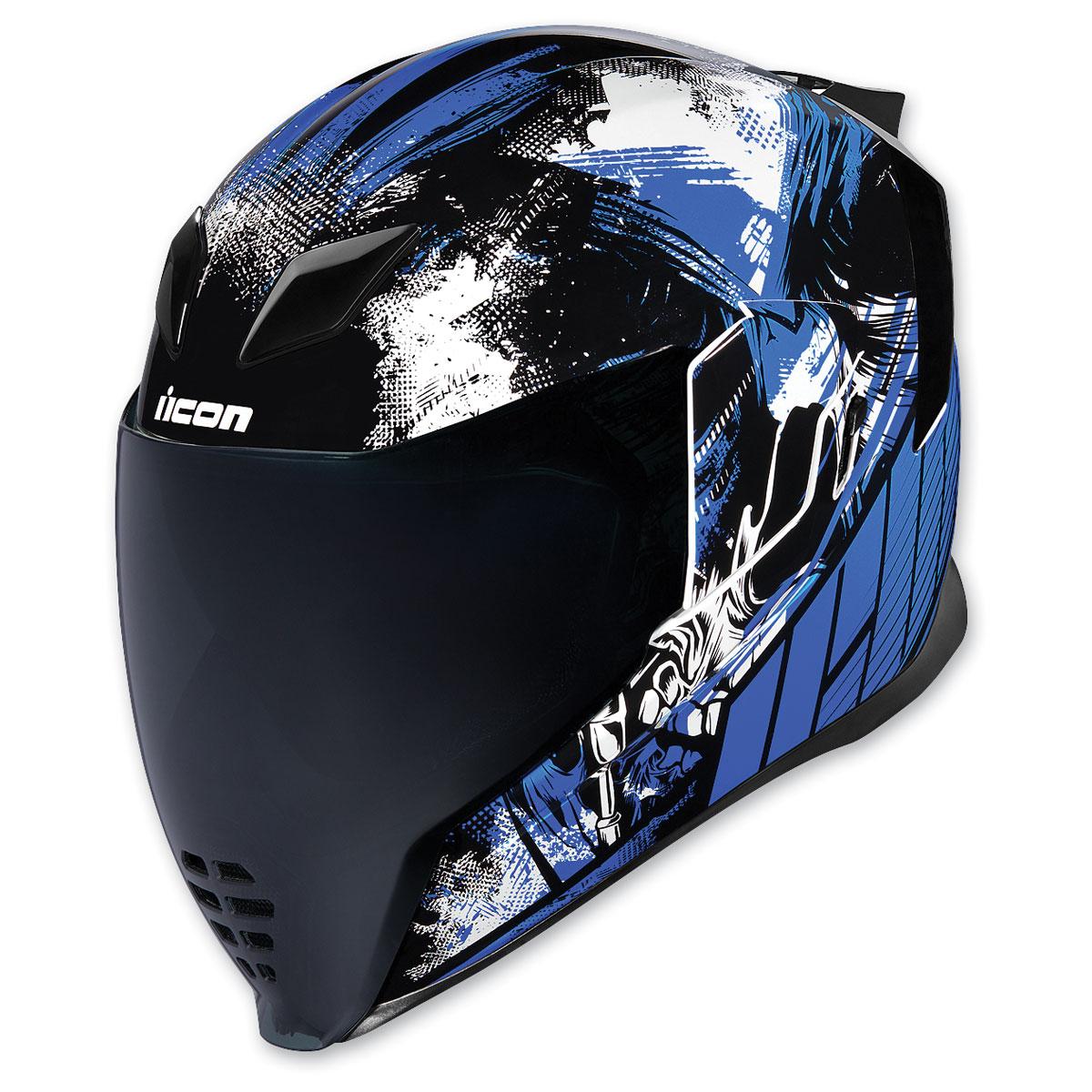 ICON Airflite Stim Blue Full Face Helmet