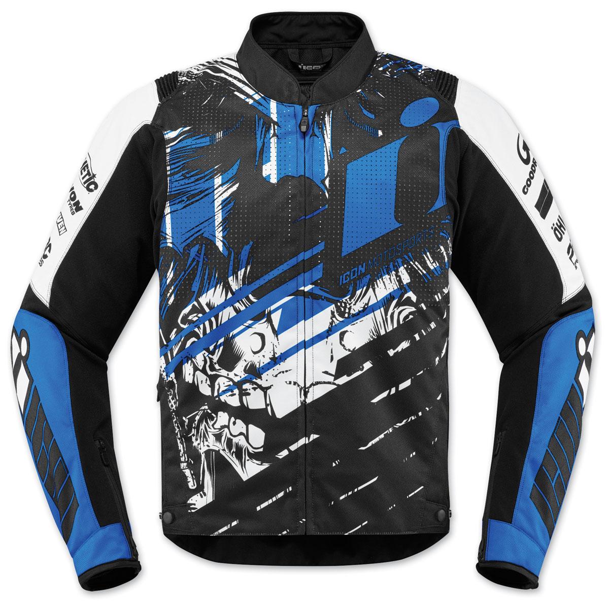 ICON Men's Overlord SB2 STIM Blue Jacket