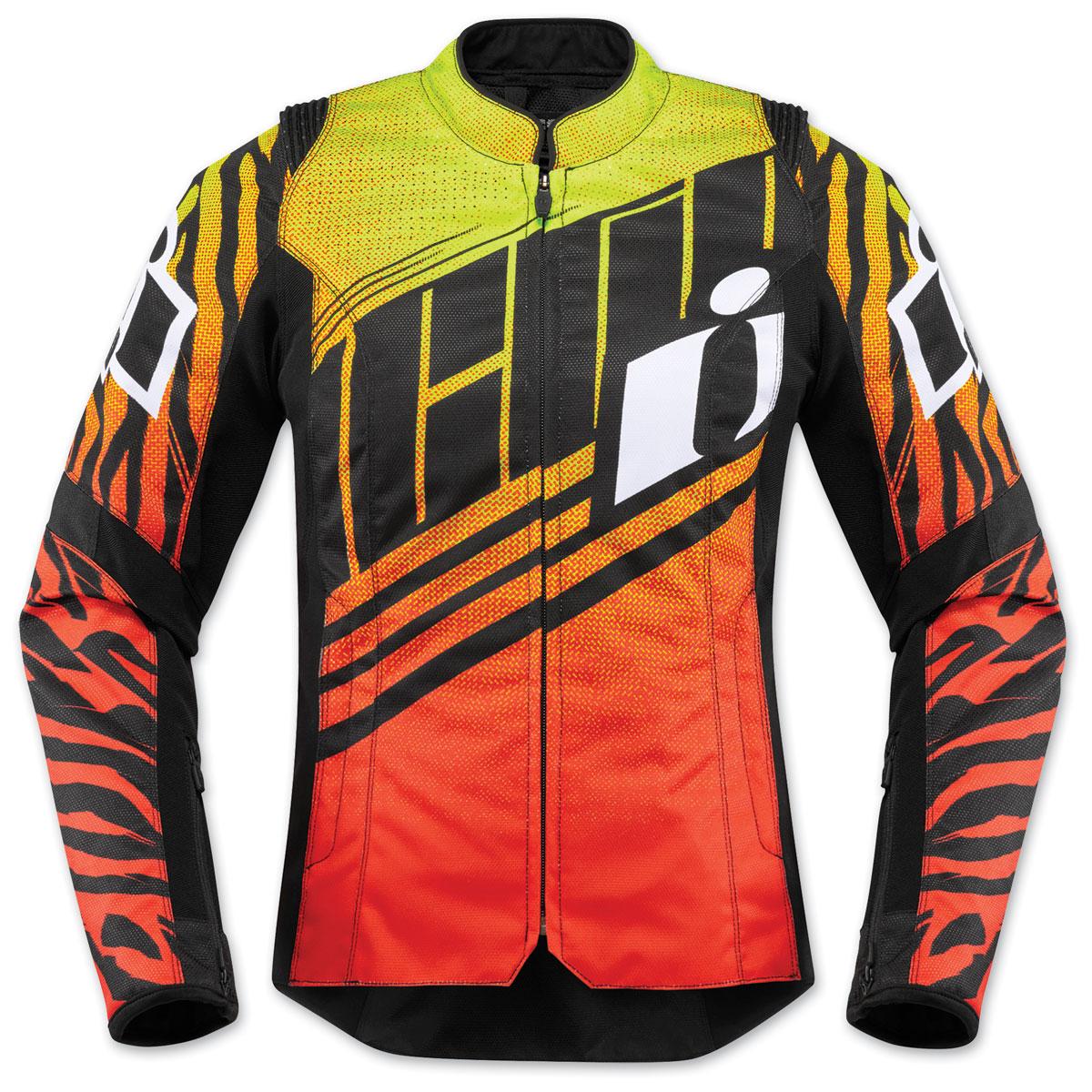 ICON Women's Overlord SB2 Wild Child Orange Textile Jacket
