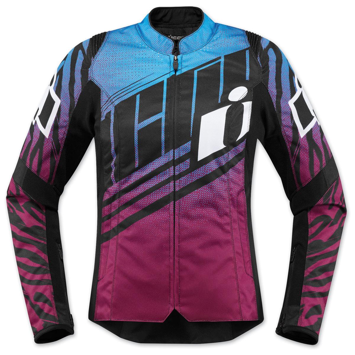 ICON Women's Overlord SB2 Wild Child Purple Textile Jacket