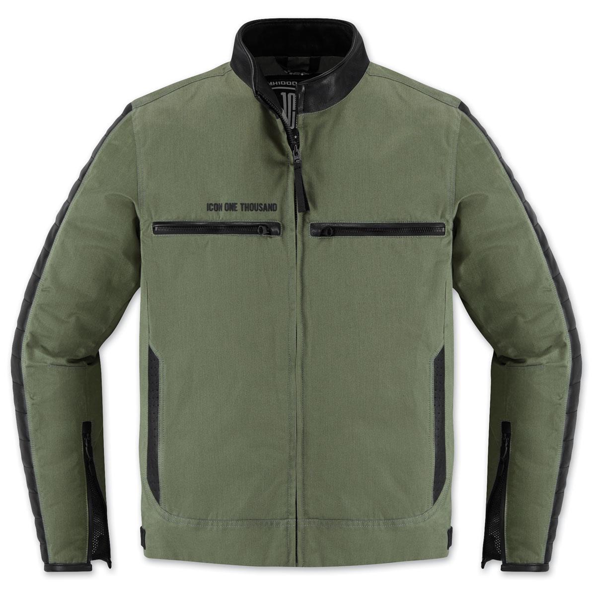 ICON One Thousand Men's MH 1000 Green Textile Jacket