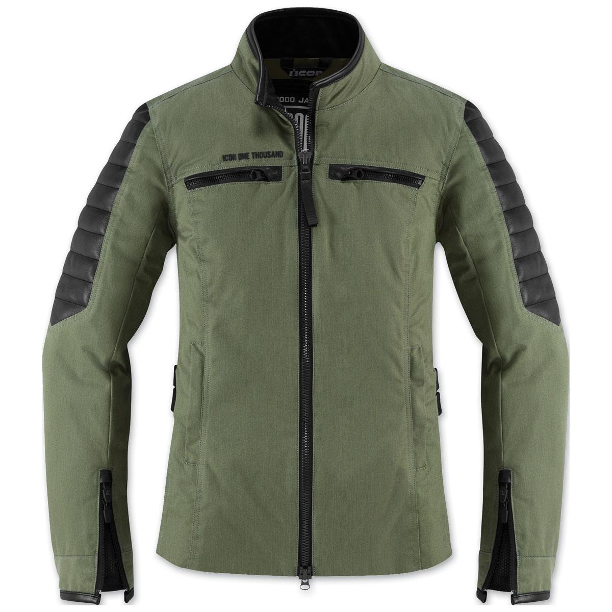 ICON One Thousand Women's MH1000 Green Textile Jacket
