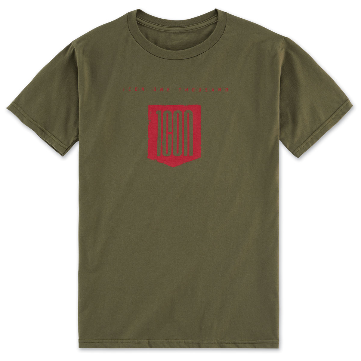 ICON One Thousand Men's Baseline Olive Tee