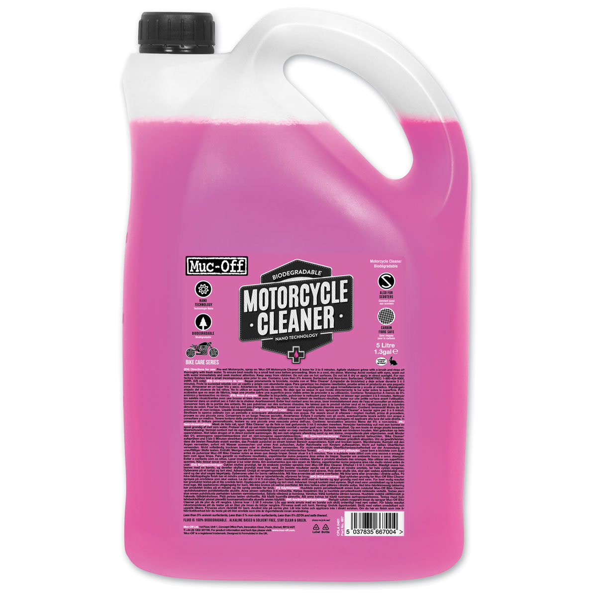 Muc-Off Nano Tech Motorcycle Cleaner 5 Liter