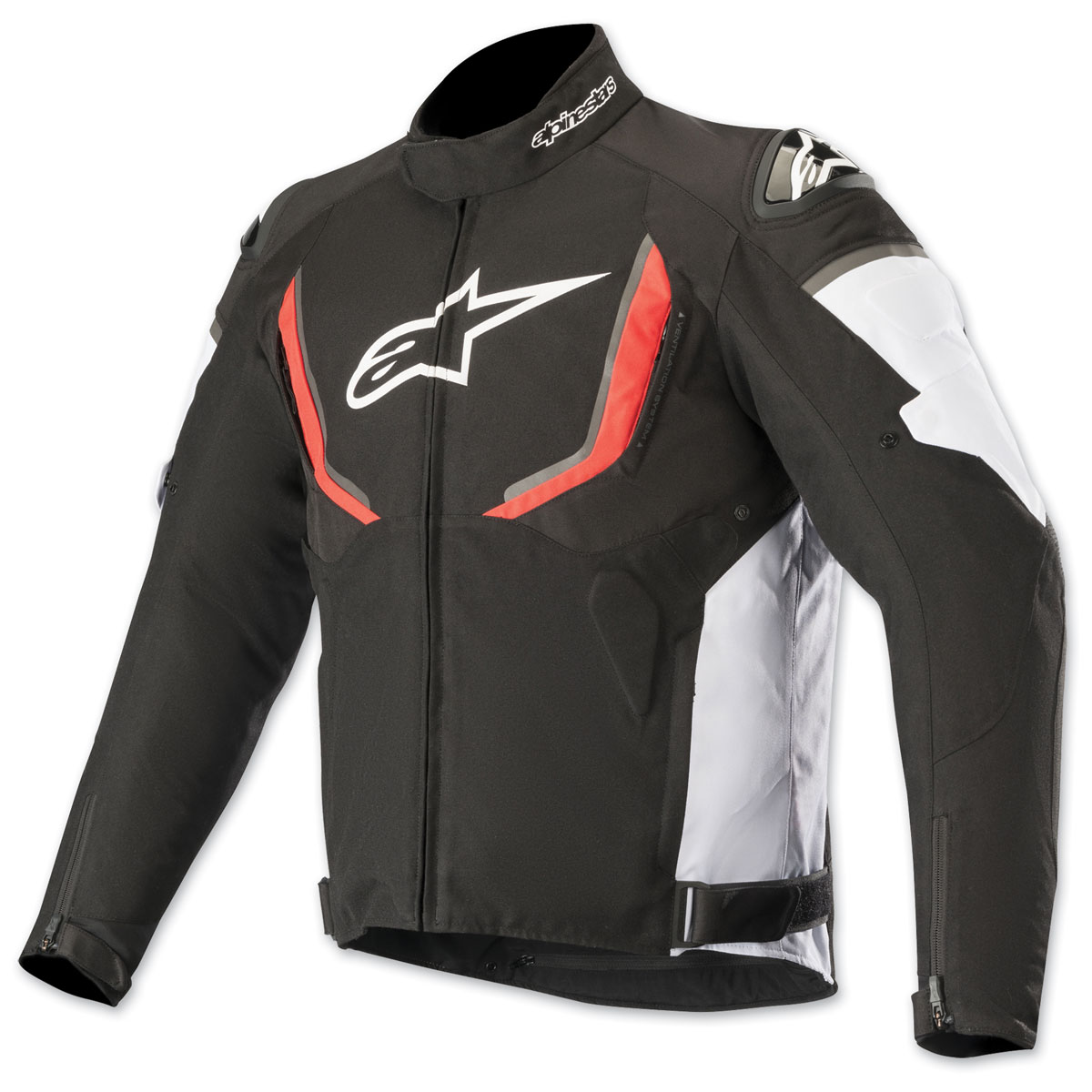 Alpinestars Men's T-GPR v2 Waterproof Black/White/Red Textile Jacket