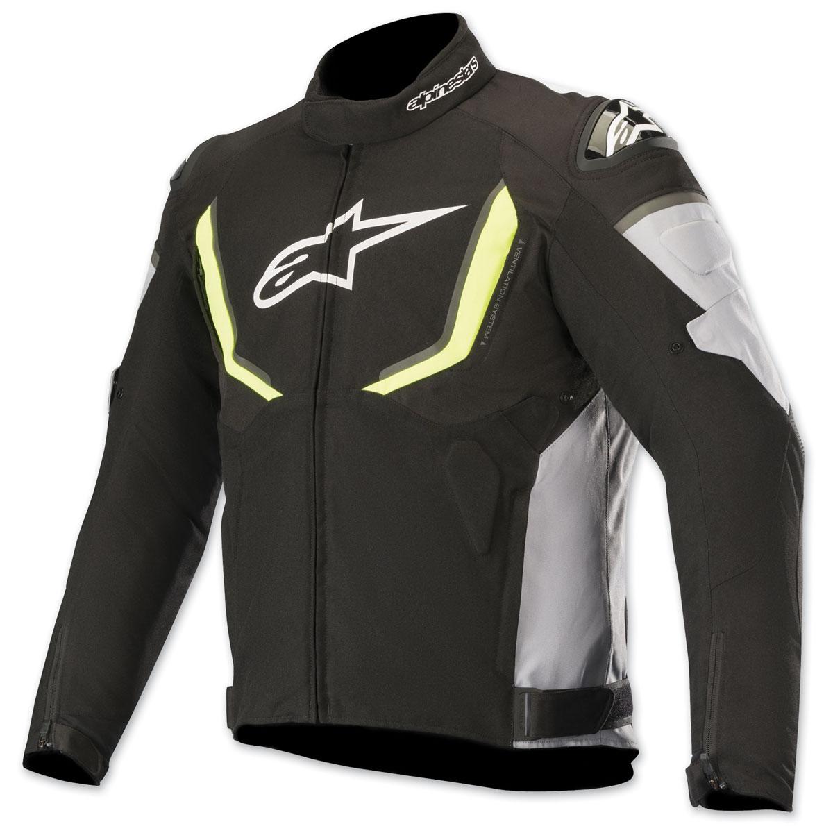 Alpinestars Men's T-GPR v2 Waterproof Black/White/Yellow Textile Jacket