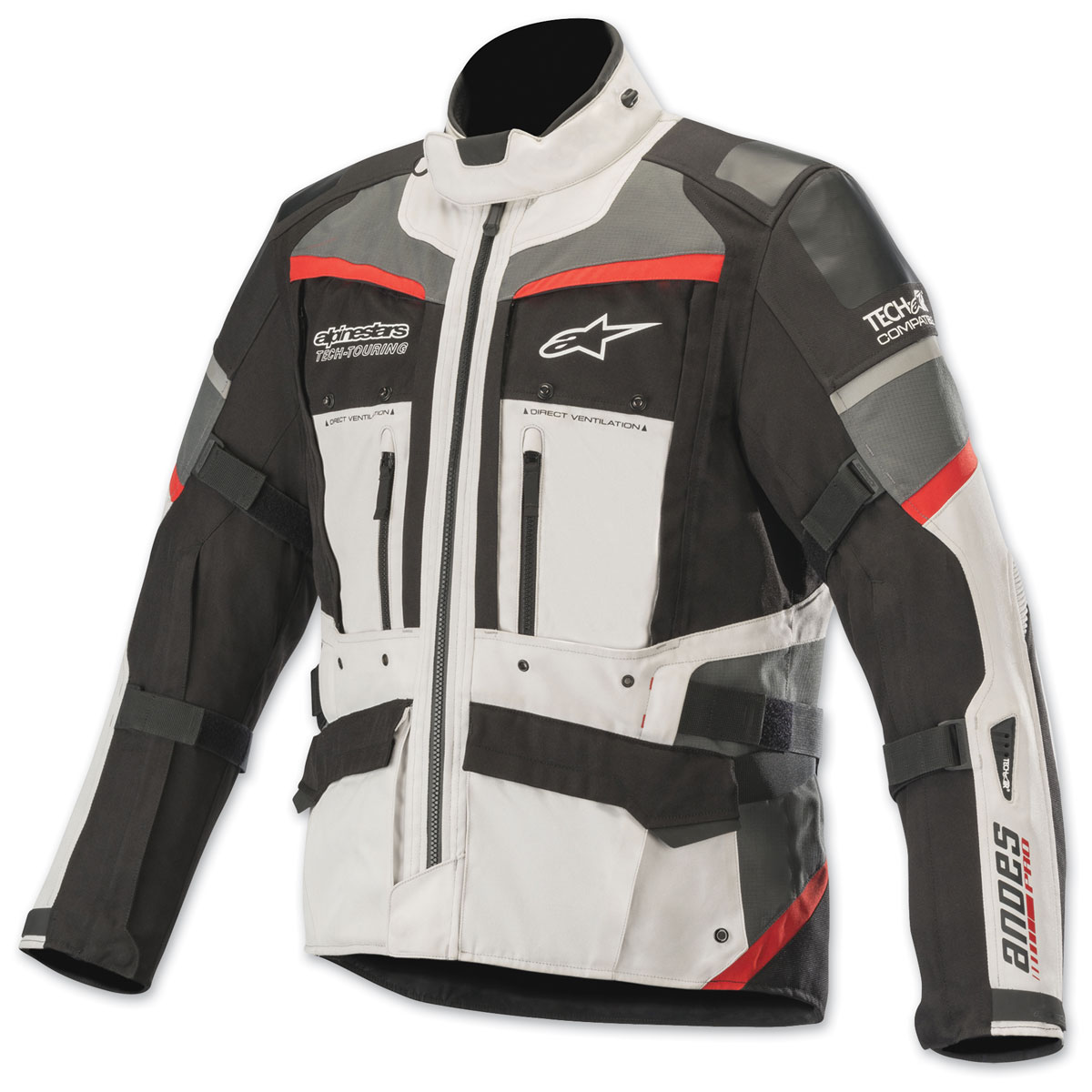 Alpinestars Men's Andies Pro Drystar Gray/Black/Red Jacket