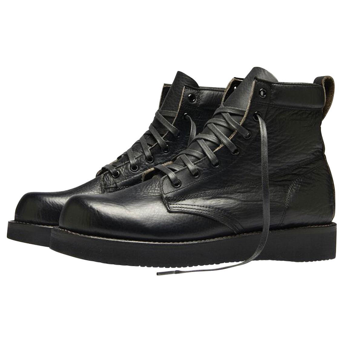 Broken Homme Men's James Black Leather Boots