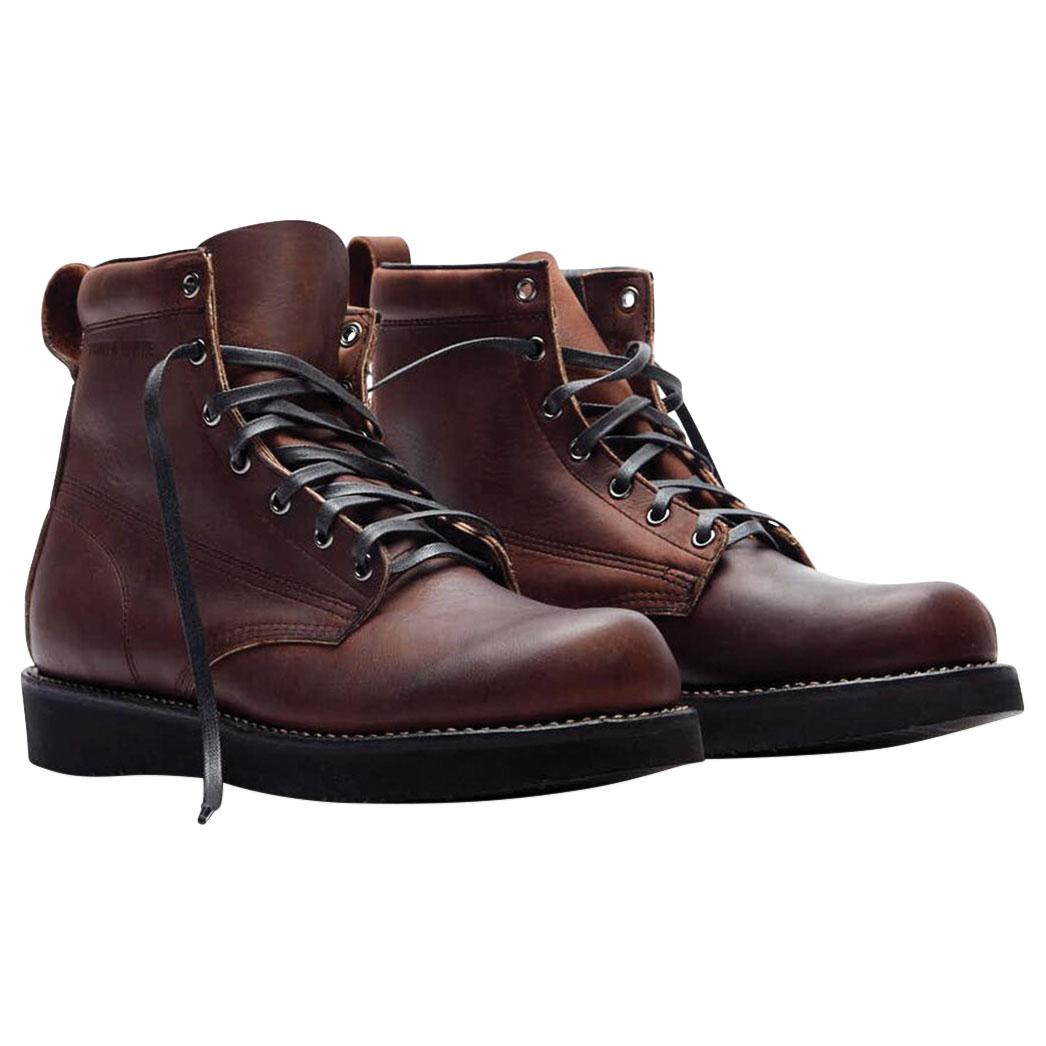 f297c87616782 Broken Homme Men's James Oxblood Leather Boots - FB12002-O-8