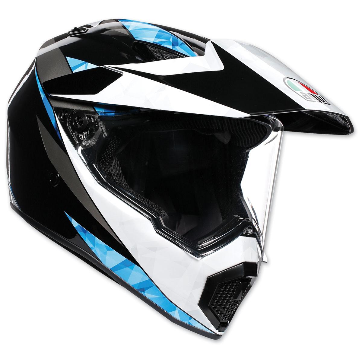 AGV AX-9 North Black/White/Cyan Full Face Helmet