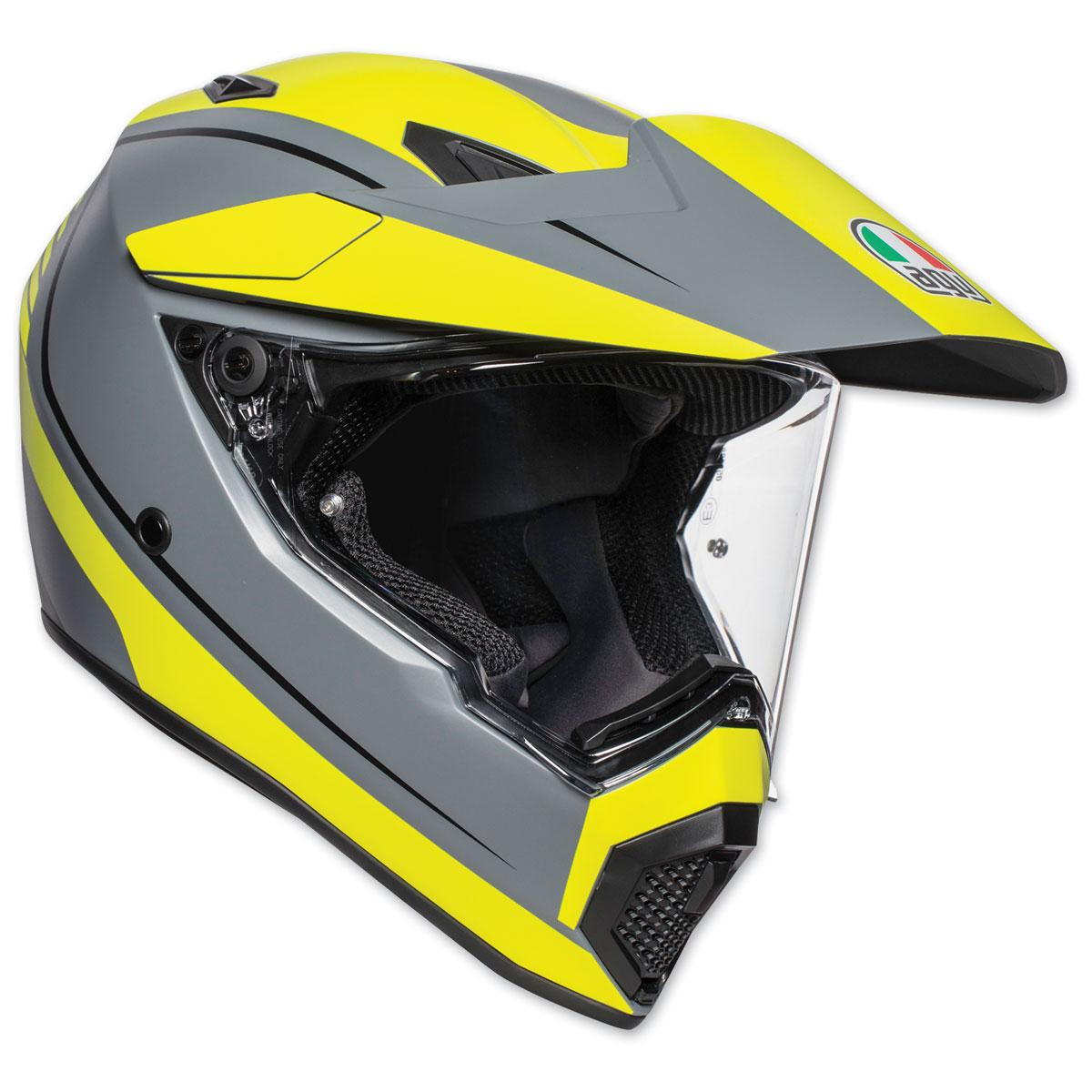 AGV AX-9 Pacific Road Matte Gray/Yellow Flou/Black Full Face Helmet
