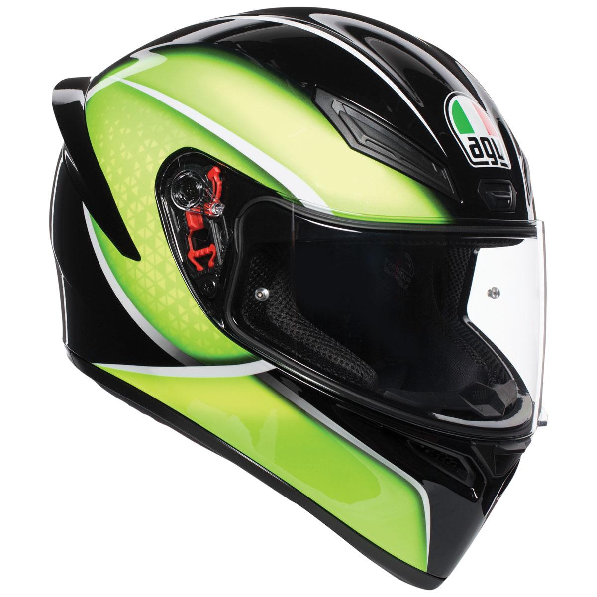 Agv K1 Qualify Black Lime Full Face Helmets 0281o2i0004s