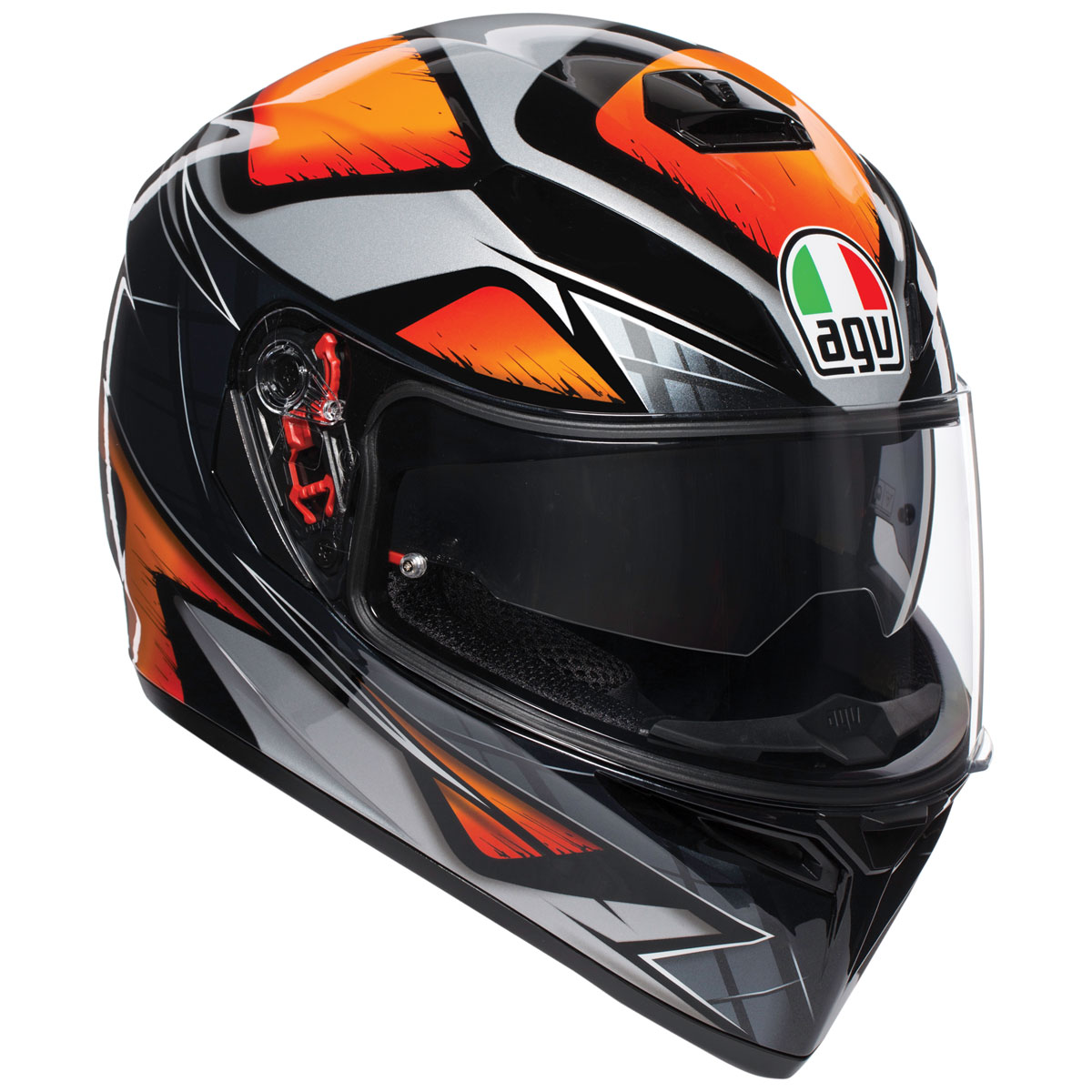 AGV K-3 SV Liquefy Black/Orange Full Face Helmet