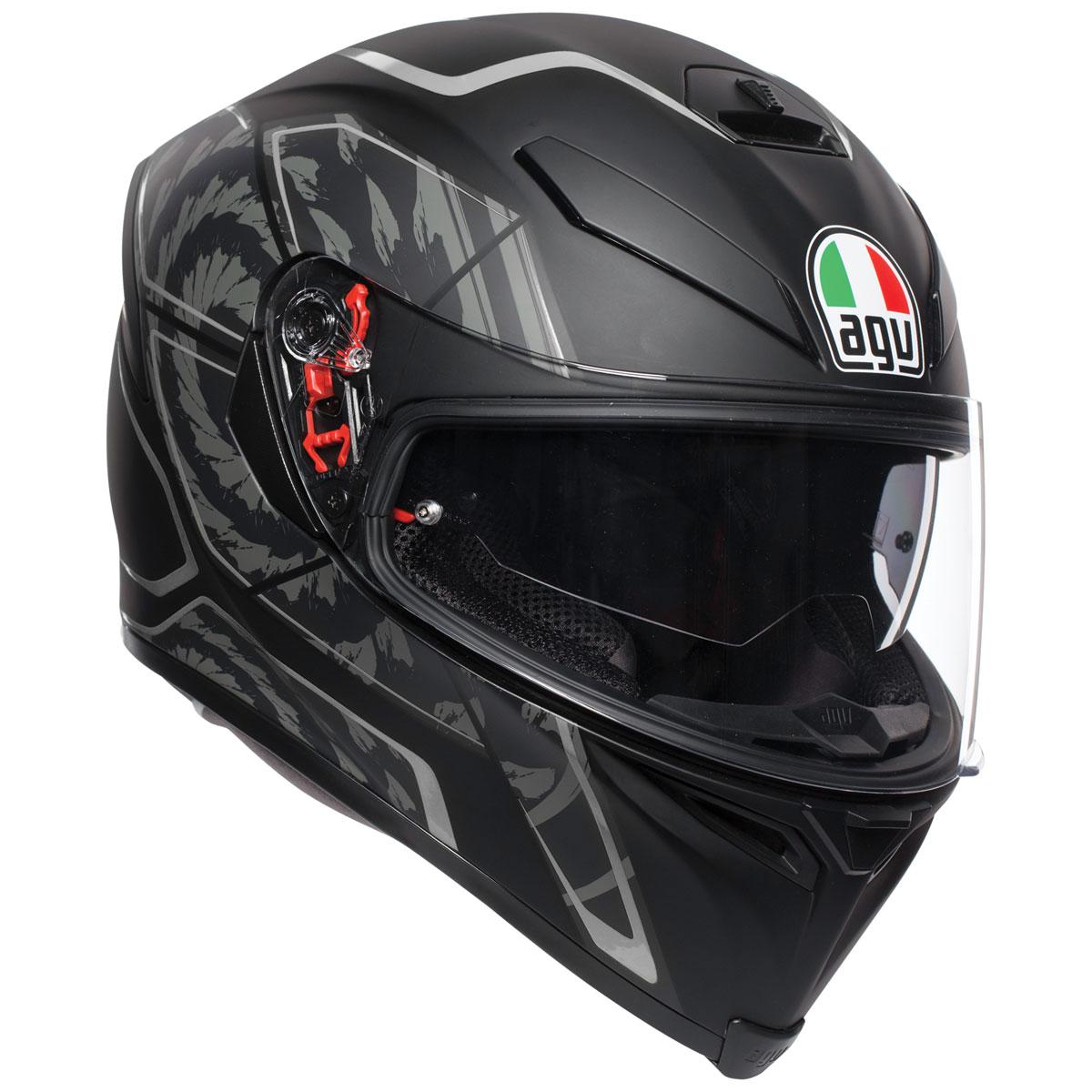 AGV K-5 S Tornado Black/Silver Full Face Helmet