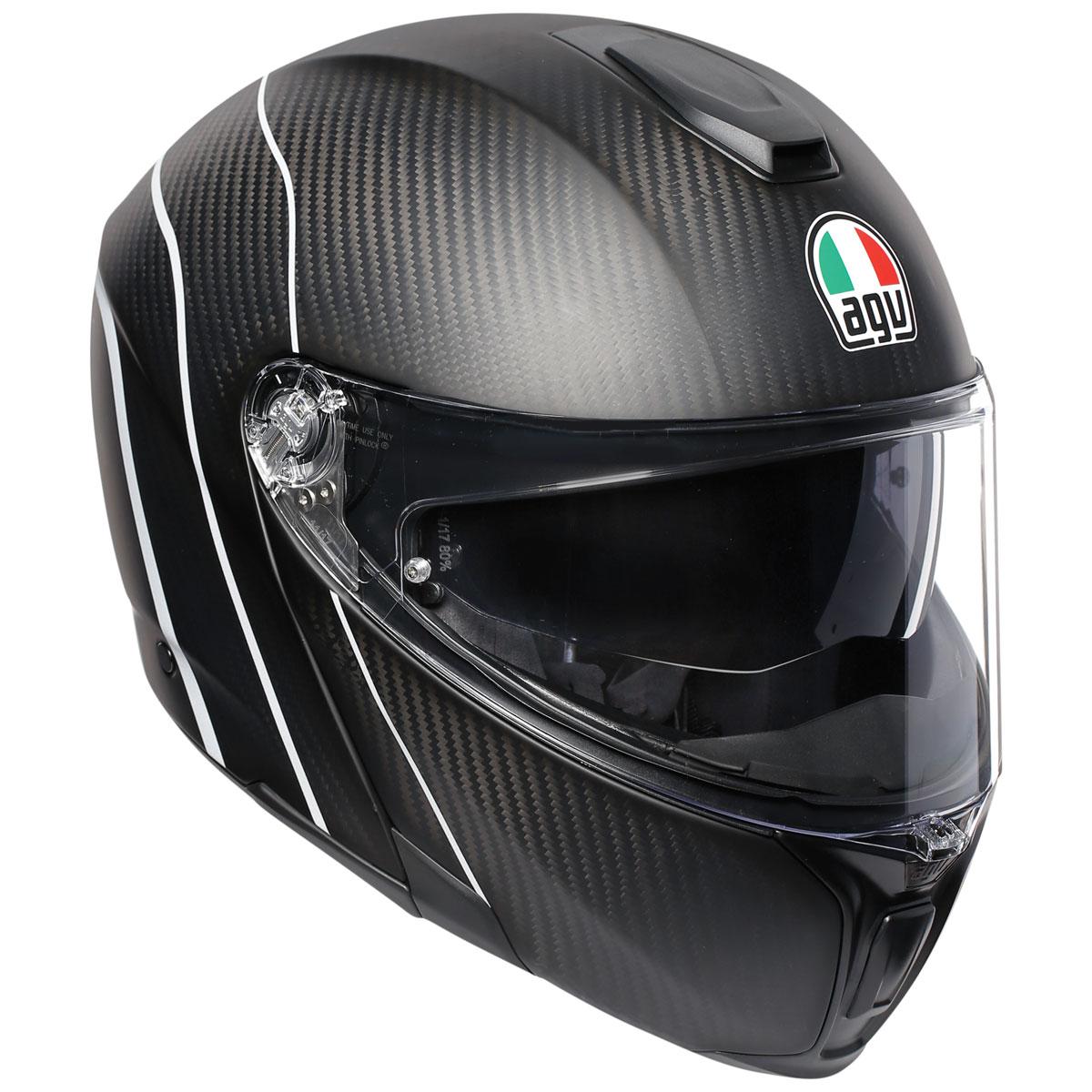 AGV Sport Modular Refractive Carbon/Silver Helmet