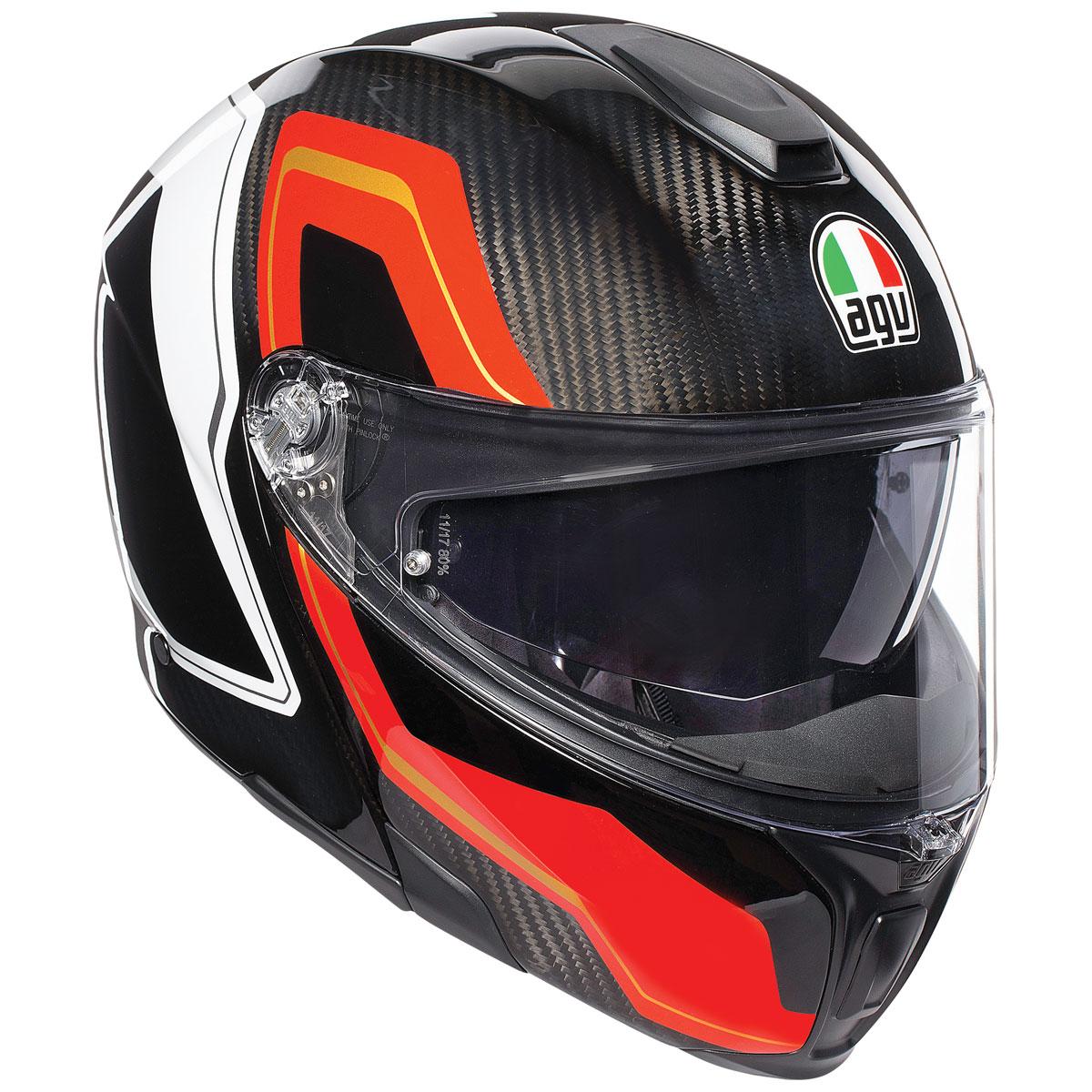 AGV Sport Modular Sharp Carbon/Red/White Helmet