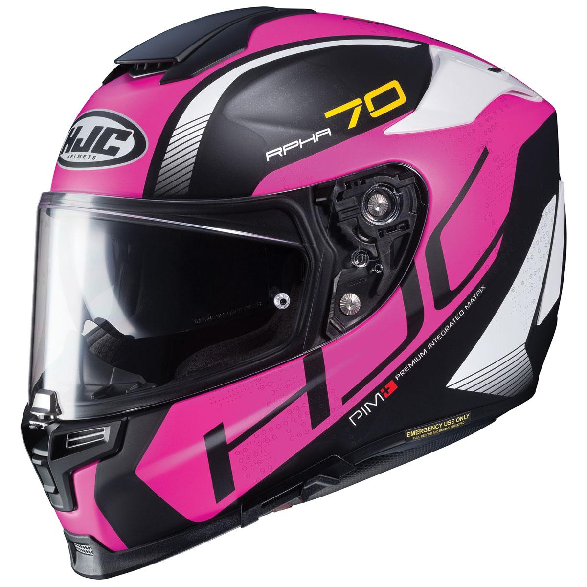 HJC RPHA 70 ST Vias Pink/Black Full Face Helmet