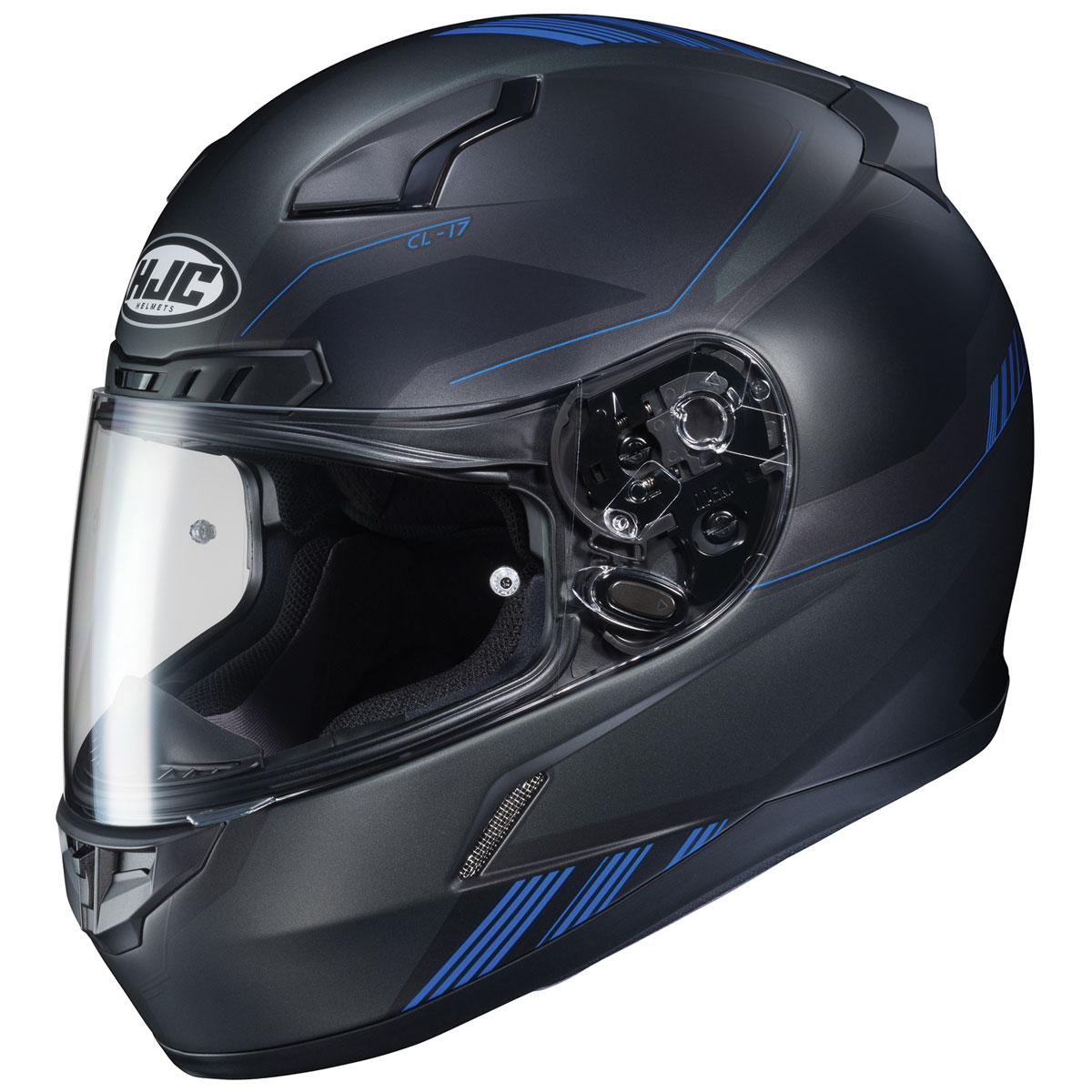 HJC CL-17 Combat Black/Blue Full Face Helmet