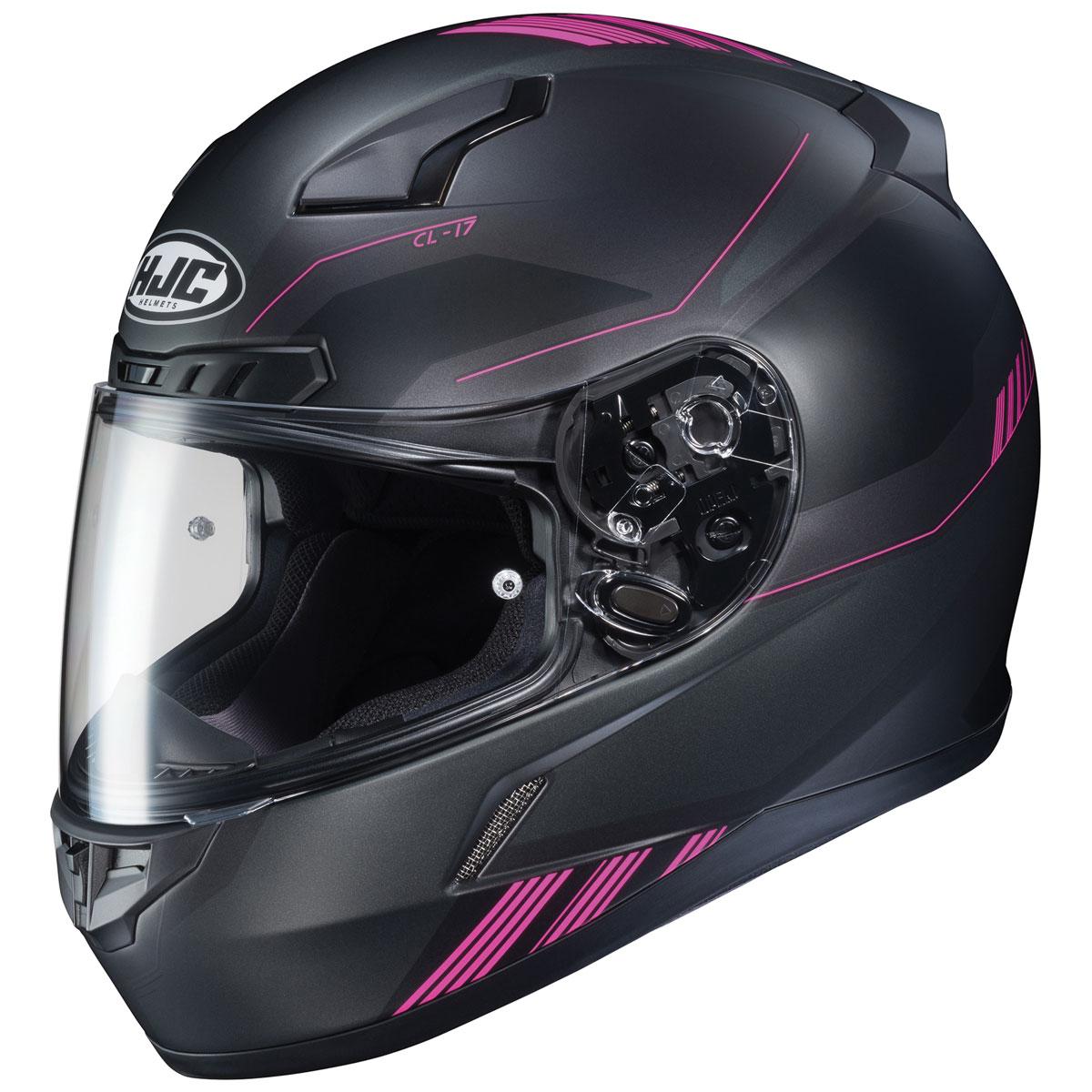 HJC CL-17 Combat Black/Pink Full Face Helmet