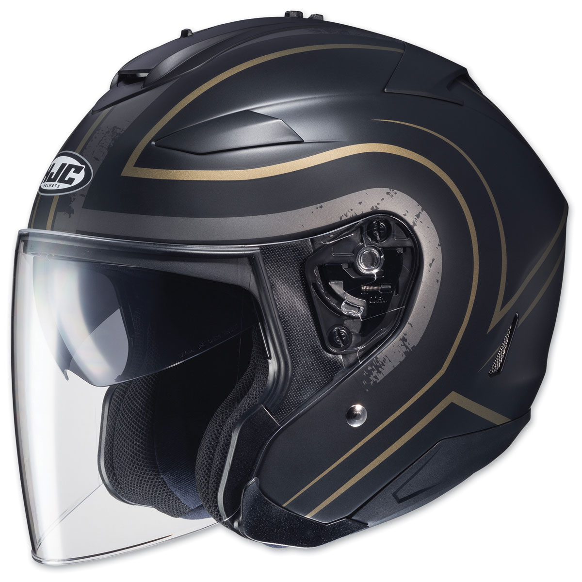 HJC IS-33 II Apus Black/Gold Open Face Helmet