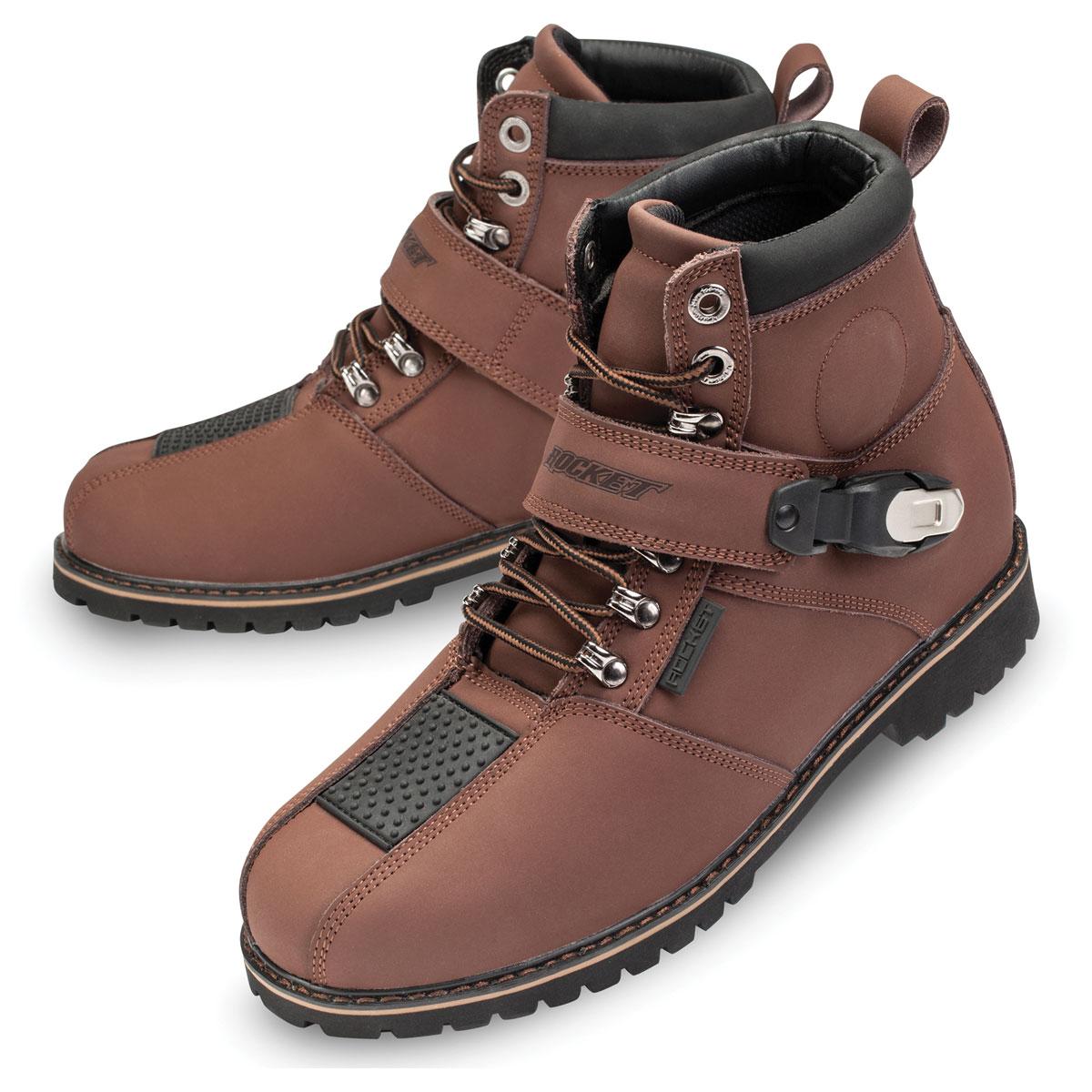 Joe Rocket Mens Big Bang 2.0 Brown Leather Boots